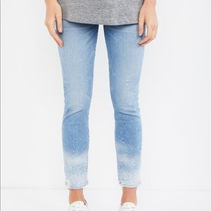 Maternity ankle jeans
